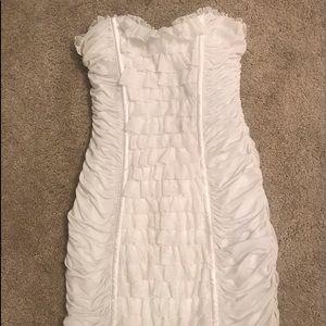 BEBE white strapless Lace dress size M